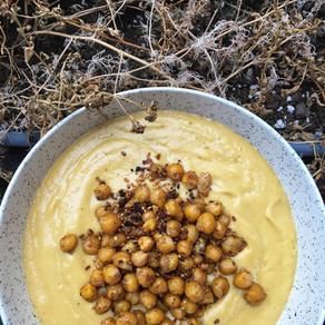 Potage de courge butternut, miso et gingembre