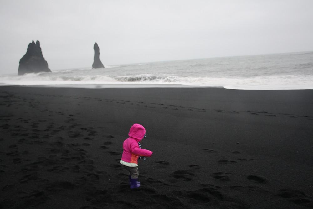 Vik Black Sand Beach In Iceland