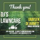 DJ's Lawncare sponsor ad.png