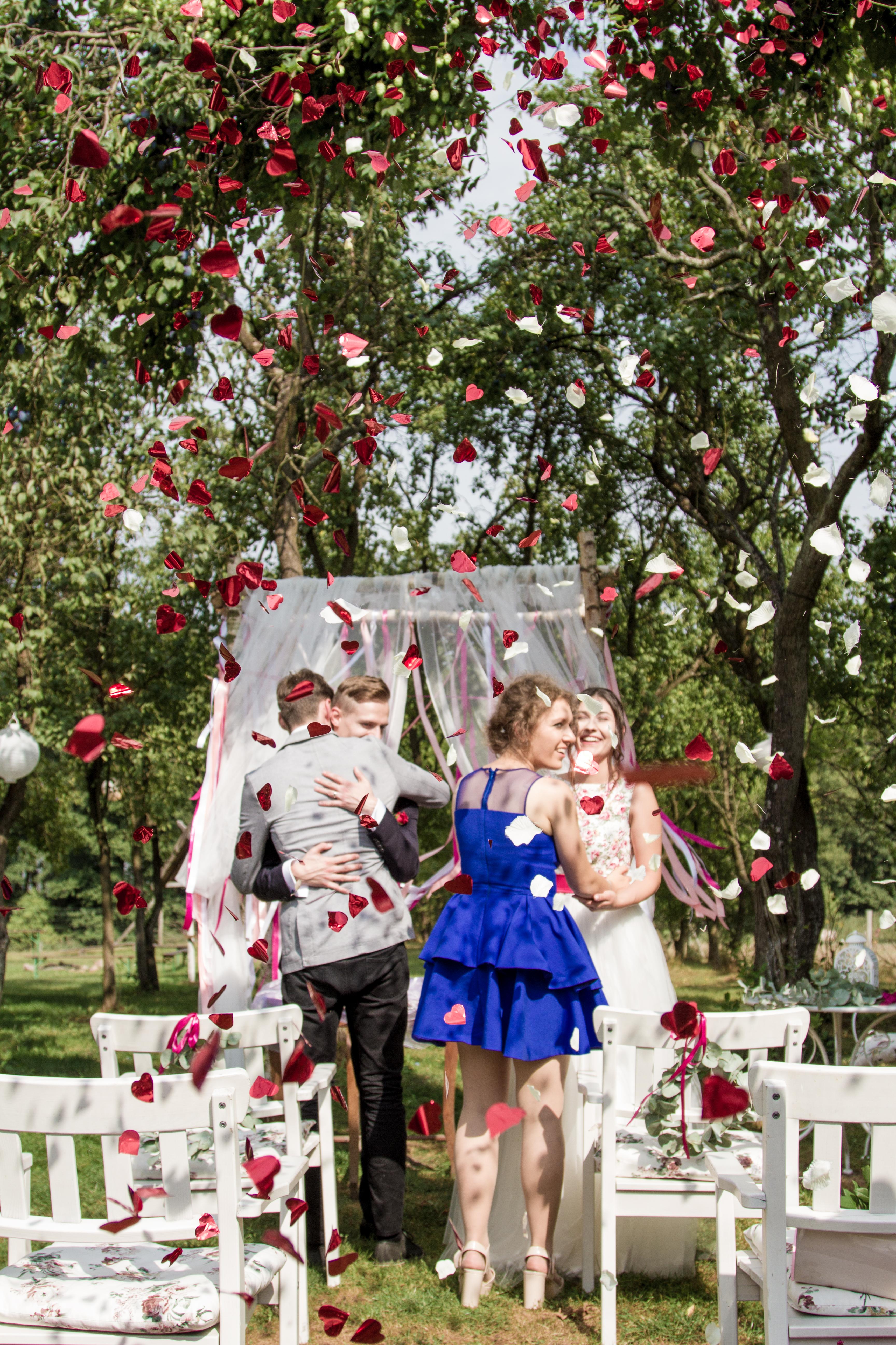 ceremonia ślubna wstążki