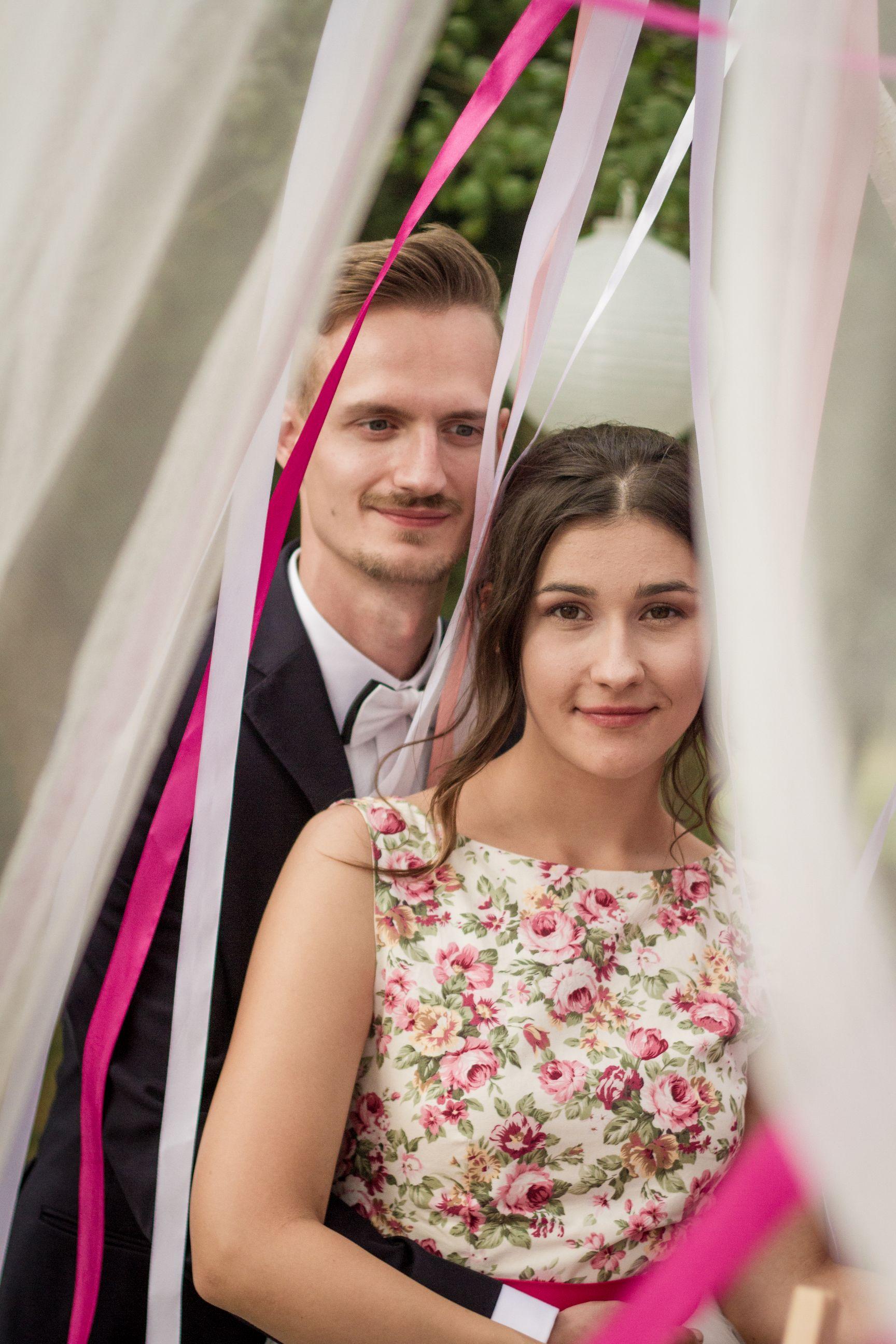 wstążki ślub