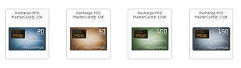 Tickets recharge PCS Mastercard