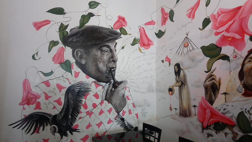#pabloneruda #mural #valparaiso #artymor