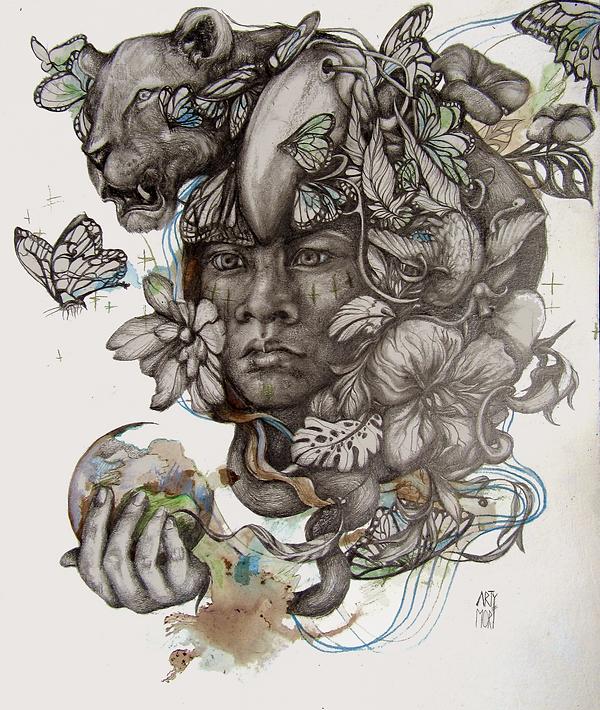 #guarani #art #graphite #illustration