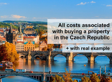 Costs associated with buying a property in the Czech Republic