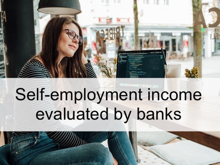 Self-employment income evaluated by banks