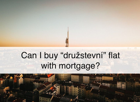 "Can I buy a ""družstevní"" flat with a mortgage?"
