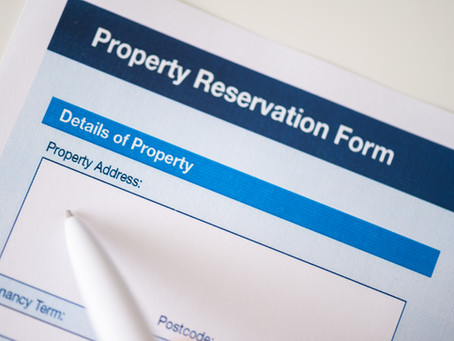 When should I sign the Reservation contract for my new property?