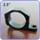 Thumbnail: 1.5 Inch Inside Diameter Roll Cage Clamp Aluminum Black Anodized
