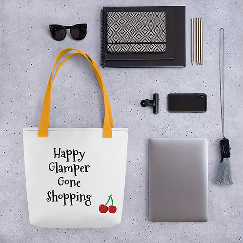 Happy Glamper Shopping Tote bag