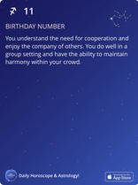 BIRTHDAY NUMBER