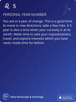 PERSONAL YEAR NUMBER