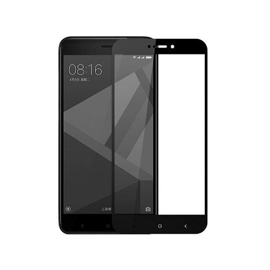 Redmi 4X Black & White 5D Tempered Glass (Full Glue)