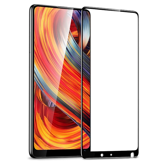 Mi Mix 2 Black 5D Tempered Glass (Full Glue)