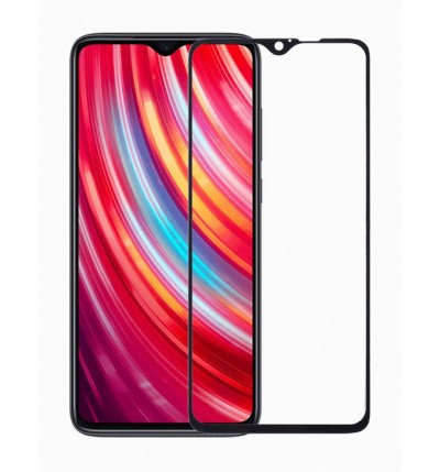 Redmi Note 8 Pro Black 5D Tempered Glass (Full Glue)