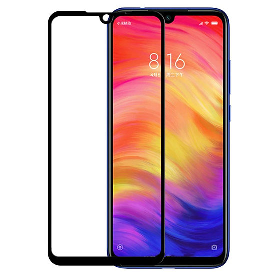 Redmi 7 Black 5D Tempered Glass (Full Glue)