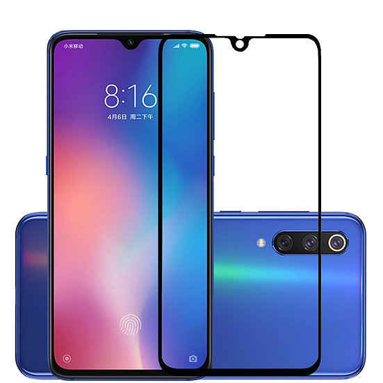 mi 9SE Black 5D Tempered Glass (Full Glue)
