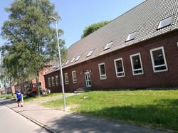 מבנה המגורים במחנה סנגוורדן
