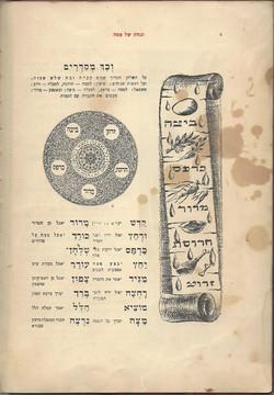 עמוד ראשון הגדה של פסח של אברהם ספוגה בשמן מכונות של                        האקסודוס