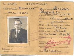 תעודת זהות של פסח  של ממשלת פלשתינה תל אביב  אפריל 1948 כבר בשמו האמתי