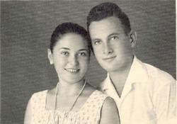 יערית – סילביה ואברהם זמן קצר לפני סיום תיכון                       וגיוסם לצהל
