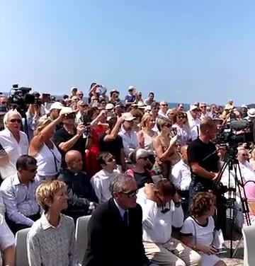 טקס הסרת הלוט מלוח הזיכרון המחודש בנמל סט, צרפת 9 יולי 2017