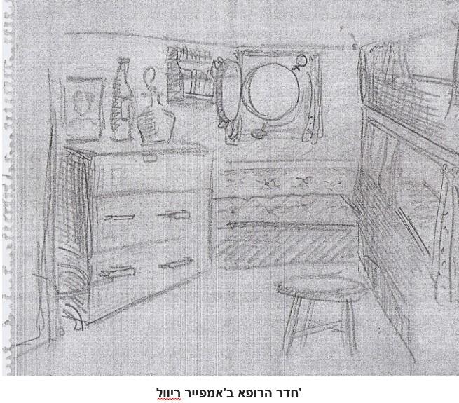 רישום של מישל דורה 30-8-1947  -  - חדר הרופא באמפייר רייבל