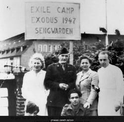 הכניסה למחנה סנגוורדן בשנת 1947