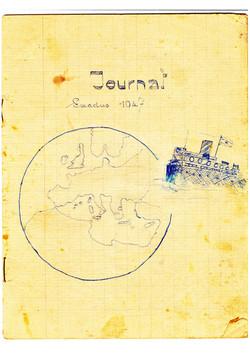 דף פתיחה ליומן המסע על האקסודוס