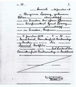 תעודת לידה של דני במחנה  אמדן גרמניה
