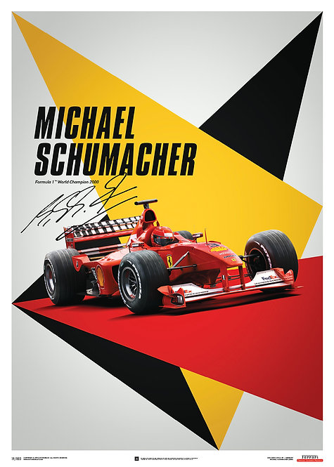 Ferrari F1-2000 - Michael Schumacher - Germany - Suzuka GP - Poster