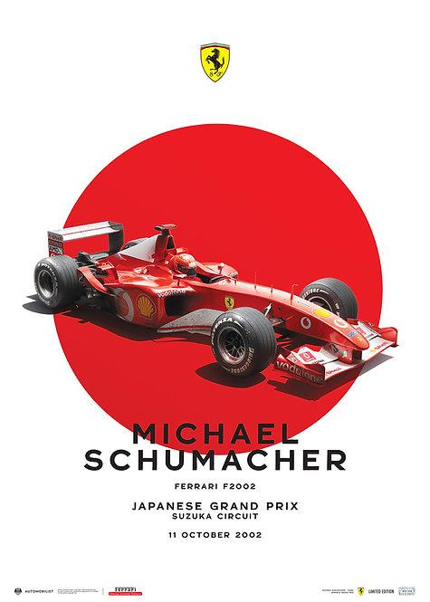 FERRARI F2002 - MICHAEL SCHUMACHER - JAPANESE GRAND PRIX - 2002 | LTD EDITION
