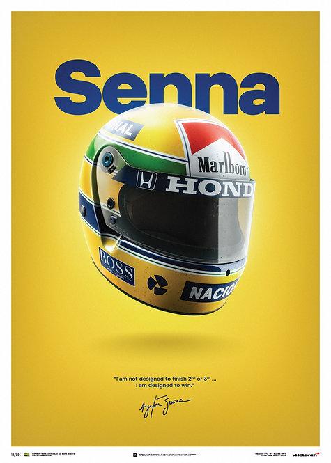 Ayrton Senna Helmet Poster