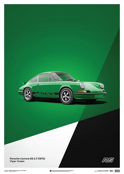Porsche 911 RS - Green - Limited Poster