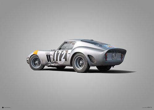 FERRARI 250 GTO - SILVER - TOUR DE FRANCE - 1964 - COLORS OF SPEED POSTER