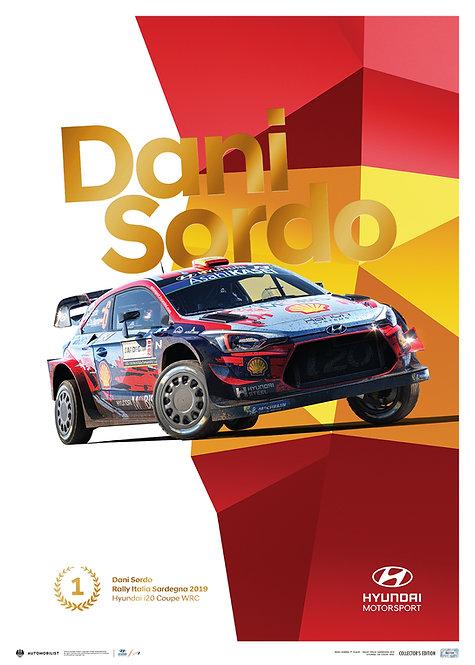 HYUNDAI MOTORSPORT - RALLY ITALIA SARDEGNA 2019 - DANI SORDO
