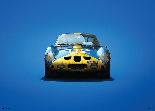 Ferrari 250 GTO - Blue - Targa Florio - 1964 - Colors of Speed Poster