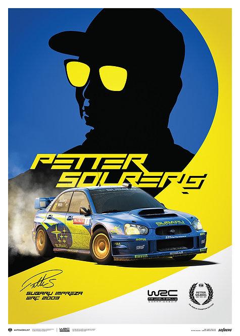 SUBARU IMPREZA WRC 2003 - PETTER SOLBERG - POSTER