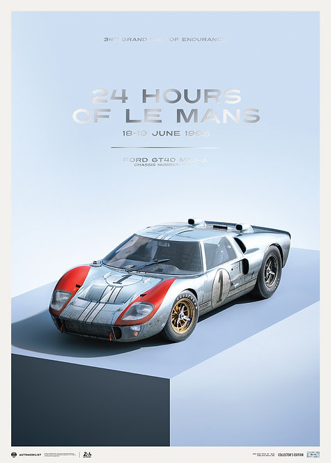 FORD GT40 - P/1015 - 24H LE MANS - 1966   COLLECTOR'S EDITION