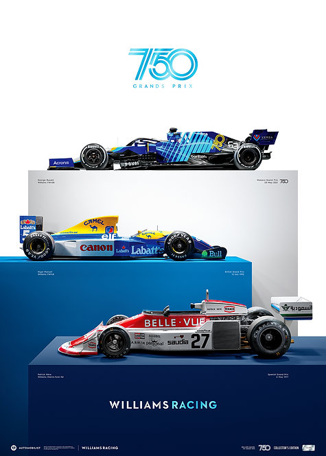 WILLIAMS RACING - 750 GRANDS PRIX   COLLECTOR'S EDITION