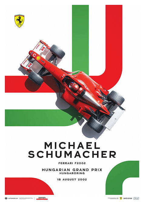 FERRARI F2002 - MICHAEL SCHUMACHER - HUNGARIAN GRAND PRIX - 2002   LTD EDITION
