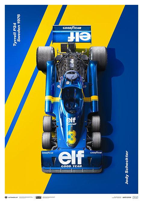 Tyrrell P34 - Jody Scheckter - Swedish Grand Prix - 1976   Limited Edition