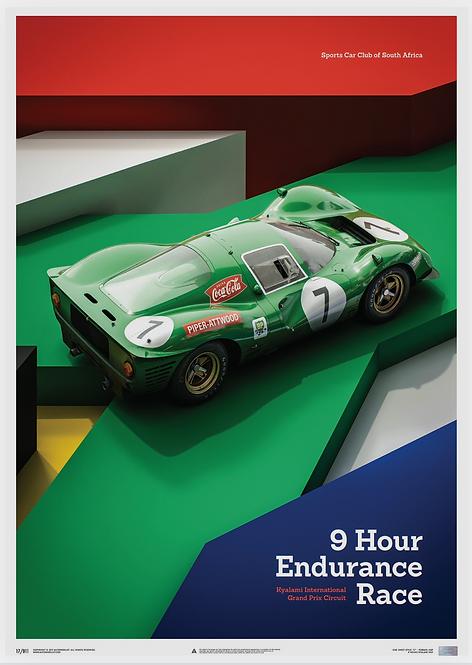 Ferrari 412P - Green - Kyalami 9 Hour - 1967 - Limited Poster