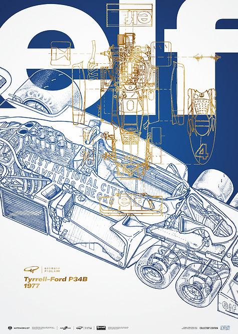 Giorgio Piola - Tyrrell P34B - 1977   Collector's Edition