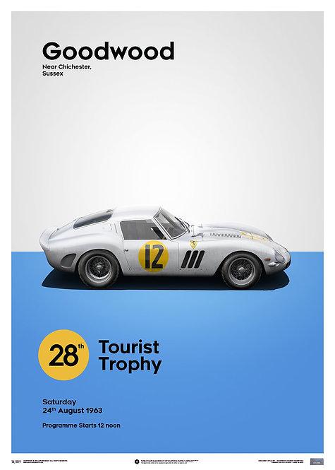Ferrari 250 GTO - White - Goodwood TT - 1963 - Limited Poster