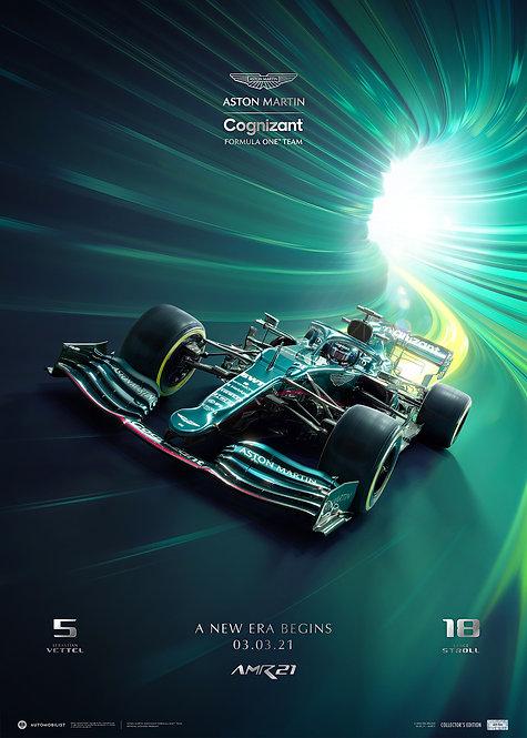 ASTON MARTIN COGNIZANT F1™ TEAM - A NEW ERA BEGINS - 2021   COLLECTOR'S EDTN
