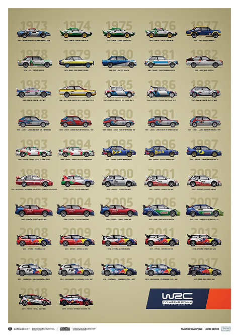 WRC Constructors' Champions 1973-2019 - 47th Anniversary | Limited Edition