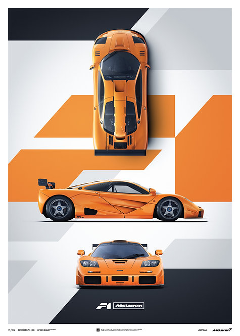 McLaren F1 LM - Papaya Orange - Poster