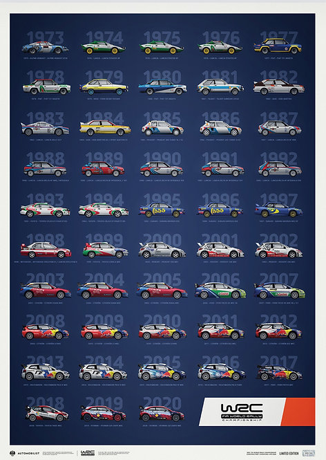 WRC CONSTRUCTORS' CHAMPIONS 1973-2020 - 48TH ANNIVERSARY   LIMITED EDITION