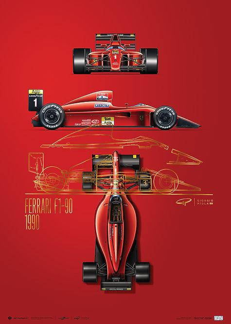 Giorgio Piola - Ferrari F1-90 - 1990   Collector's Edition